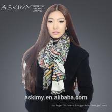 Digital printed fashion scarf 2015