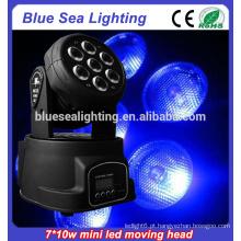 Melhor preço 7x10w rgbw 4in1led movendo cabeça rgbw lavagem luz