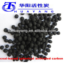 900mg/g min Iodine value coal based spherical activated carbon for gas purification