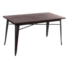 restaurant furniture wood rectangle dining table fashion design