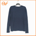 Navy Basic Pullover Manches longues Pulls masculins