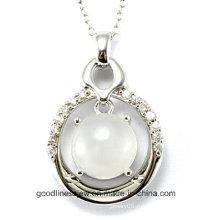 Высокое качество и новая мода чистого стерлингового серебра 925 круглый камень подвеска Оптовая P4993