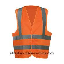 Gilet de sécurité réfléchissant de vêtements de travail de haute visibilité avec la classe 2 d'OIN d'En