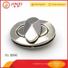 Alto brillo shinning níquel color metal bolsos de bloqueo