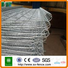PVC enduit double boucle clôture pour la maison