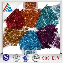Metallisierte PET-Folie Glitter Pulver für Weihnachten Geschenk Verpackung PET Material