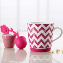 Дешевые керамическая кружка с цветочным чайный набор
