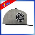 6 Panels Wool Crown Leather Patch Cap