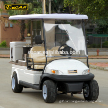 Hot sale EXCAR electric vehicle 48V food cart 2 seats utility buggy cart