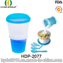 2016 Hot Sales Colorful Salad Shaker Cup Cereal Cup (HDP-2077)