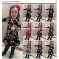 2017 Großhandel Bunte Weihnachtsbaum Gedruckt Kinder Cothing Mädchen Kleider Auf Lager Artikel Kinder Mädchen Kleid