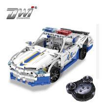 430pcs city police car series command vehicle rc car battery enlighten brick toy rc car hobby building bricks