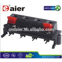 Daier WP4-5 4P Terminales de bocina de resorte rojo y negro Spring Terminal de empuje 4P WP