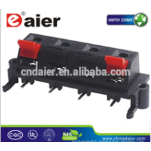 Daier WP4-5 4P Red& Black Clip Spring Speaker Terminals 4P WP Push Terminal