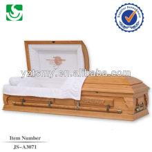 Modèle en bois sculpté cercueil sunrise moderne américain