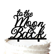 """"""" to The Moon & Back"""" Cake Topper for Wedding Romantic"""