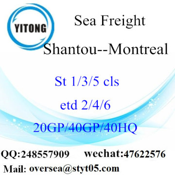 Shantou Port Sea Freight Shipping ke Montreal