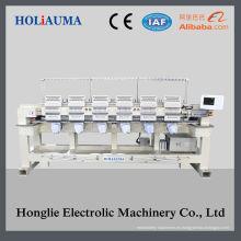 Touch pantalla alta velocidad Tubular cabeza 6 equipo bordado precio de la máquina