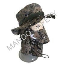 Хлопчатобумажная шляпа большого размера с защитой для лица