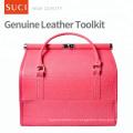 ШУЧИ пользовательские Оптовая пустой Красный розовый макияж кожаный чехол косметический макияж мешок