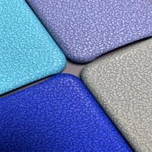 Cuero de PVC de piedra en relieve impermeable para la caja del teléfono