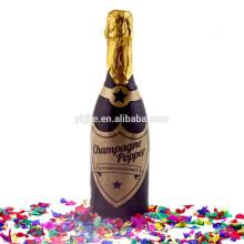 Bouteille de confettis de Champagne avec cercle métallisé coloré