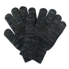 Moda de fibra de prata de malha inverno touch screen luvas mágicas (yky5465)