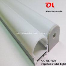 Profilé en aluminium d'extrusion de surface rond anodisé par LED