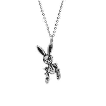 2020 Real 925 Sterling Silver Choker Necklace Women Rabbit Beads Chain Pendant Necklaces Hip Hop Jewellery