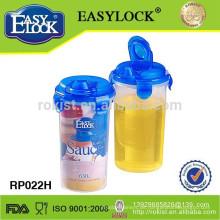 Plastikölflasche aus verschütten