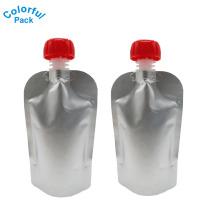 Malote de empacotamento laminado alumínio do bico do saco da bebida material para o café líquido do leite do suco da bebida