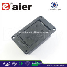 Conector de bateria Daier 9V com suporte de bateria de plástico deslizante tampa 9V