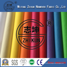Rainbow Colors PP Spunbond tela no tejida para los bolsos de compras en China