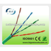 Cat5e utp cable lan cca o cu 23 awg 24awg 26awg fr pvc / lszh chaqueta rohs Shenzhen fabricante