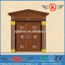 JK-C9039 imitated copper entry door double arch top entry door