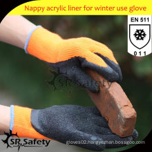 SRSAFETY 7ga Knitted Liner Latex Coated safety glove/insulated work gloves