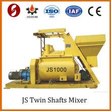 Venda quente 1m3 do misturador de concreto do eixo dobro de 1000L