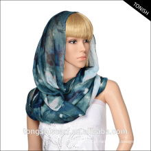 Impressão feita sob encomenda do lenço do infinito do voile do poliéster de 100% para o serviço do oem e do odm das mulheres