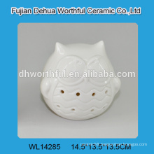 2016 superior quality porcelain owl with led light for home decoration
