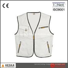 Multi Pocket Durable Cotton Aleeveless Qork Vest