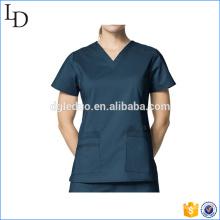 Customized cotton blend tunic medical uniform nurse top