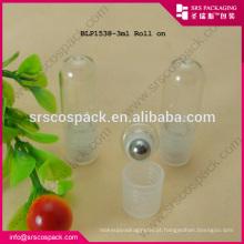 3ML pequeno rolo de vidro em embalagens cosméticos Attar garrafa