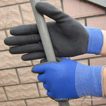 Polyester Latex Foam Dipped Palm Hand Work Glove Latex Glove