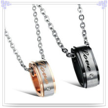 Colgante de moda de acero inoxidable collar de amante de la joyería (nk134)