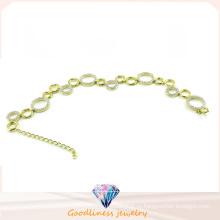 Женщина Мода Ювелирные изделия CZ 925 Серебряный браслет (BT6598)