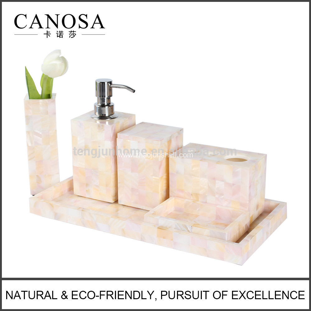Chinese River Shell Bathroom Vanity Set for Hotel Bathroom and Guestroom