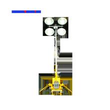 Tour d'éclairage de remorque de moteur de mât manuel 5.5M
