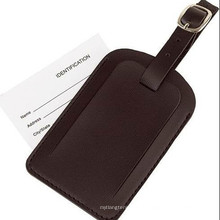 Cadeau promotionnel en cuir ID Nom étiquette bagage (B1004)