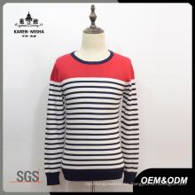 Suéter de punto a rayas de moda para hombres