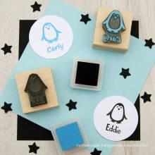 2018 New Design Epress Rubber Round Self Inking Customized Address Stamp